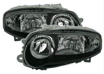 超レア アルファロメオ ヘッドライト Headlights in black clear finish for ALFA ROMEO 147 00-04 H1 H7 halogen lights  ALFA ROMEO 147 00-04 H1 H7ハロゲンライトの黒色透明仕上げヘッドライト