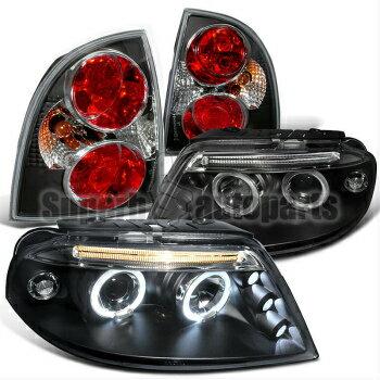 業界最高品質 フォルクスワーゲン ヘッドライト 2001-2005 VW Passat LED Halo Projector Headlights+Altezza Tail Brake Lamps Black  2001-2005 VWパサートLEDヘイロープロジェクターヘッドライト+アルテッツァテールブレーキランプブラック