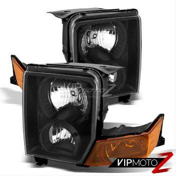 大放出 クライスラー Jeep ヘッドライト 2006-2010 Jeep Commander SUV Black Amber Front LEFT RIGHT Headlights Assembly  2006-2010ジープ・コマンダーSUVブラックアンバーフロント左右ヘッドライトアセンブリ