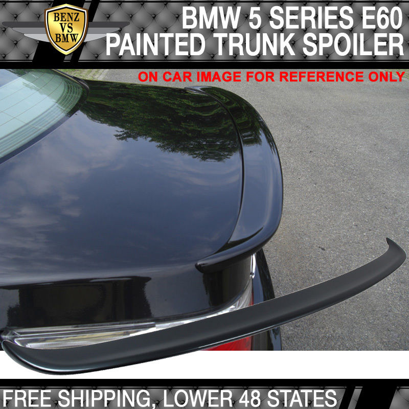 USパーツ 04-10 BMW 5シリーズE60 4Dr ACトランク・スポイラーペイント・チタン・グレー・メタリック#A36 04-10 BMW 5 Series E60 4Dr AC Trunk Spoiler Painted Titanium Gray Metallic # A36