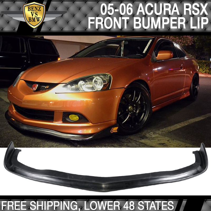 USパーツ 05 06アキュラRSX CSスタイルフロントバンパーリップスポイラーボディキットポリウレタン For 05 06 Acura RSX CS Style Front Bumper Lip Spoiler Bodykit Poly Urethane