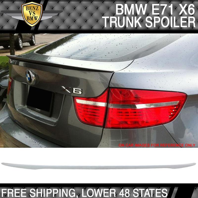 USパーツ 08-14 BMW X6 E71 Pスタイル塗装#300アルパインホワイトIIIトランクスポイラー -  ABS 08-14 BMW X6 E71 P Style Painted #300 Alpine White III Trunk Spoiler - ABS