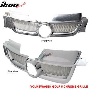 USグリル 06-09フォルクスワーゲンVWゴルフ5 V MK5 ABSクロームフードグリル 06-09 Volkswagen VW Golf 5 V MK5 ABS Chrome Hood Grille