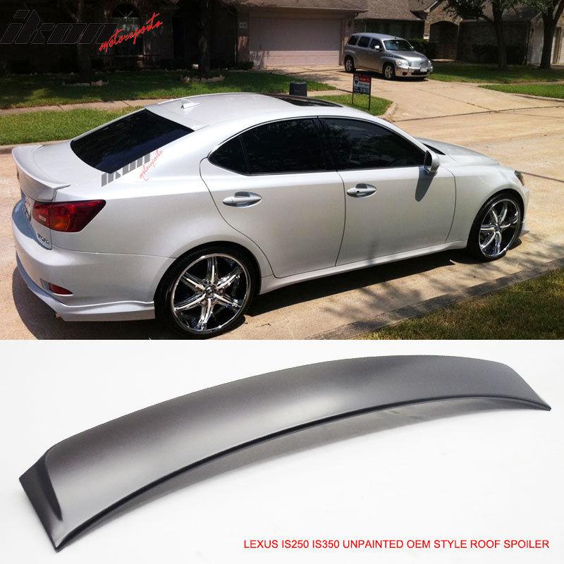 USスポイラー 06-13レクサスIS250 IS350 4Door OEスタイル無塗装ルーフスポイラー -  ABS 06-13 Lexus IS250 IS350 4Door OE Style Unpainted Roof Spoiler - ABS
