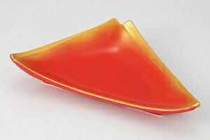 美濃焼 赤釉金吹 重ね三角皿 向付 5個セット