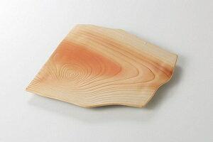 美濃焼 木肌 木目変形角皿 5個セット