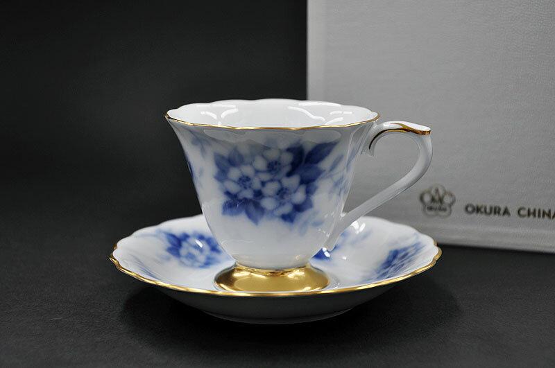 大倉陶園 ローズカップコレクション[ノイバラ] コーヒー碗皿 (1客/碗皿)[カップ&ソーサー]