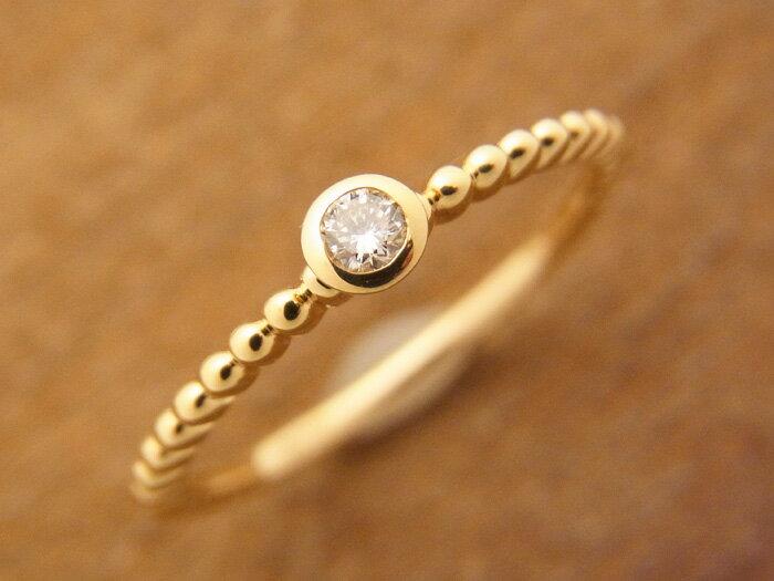 高品質で K18 イエローゴールド ダイヤモンド ロープデザイン リング [k18  18k  18金 指輪 ペア シンプル  ]