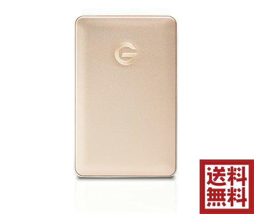 G-Technology 1TB G-DRIVE mobile USB-C ポータブルハードディスク 7200RPM アルミニウムケース 3年保証 Apple iMac/MacBook/TimeMachine対応 バスパワー駆動  ゴールド