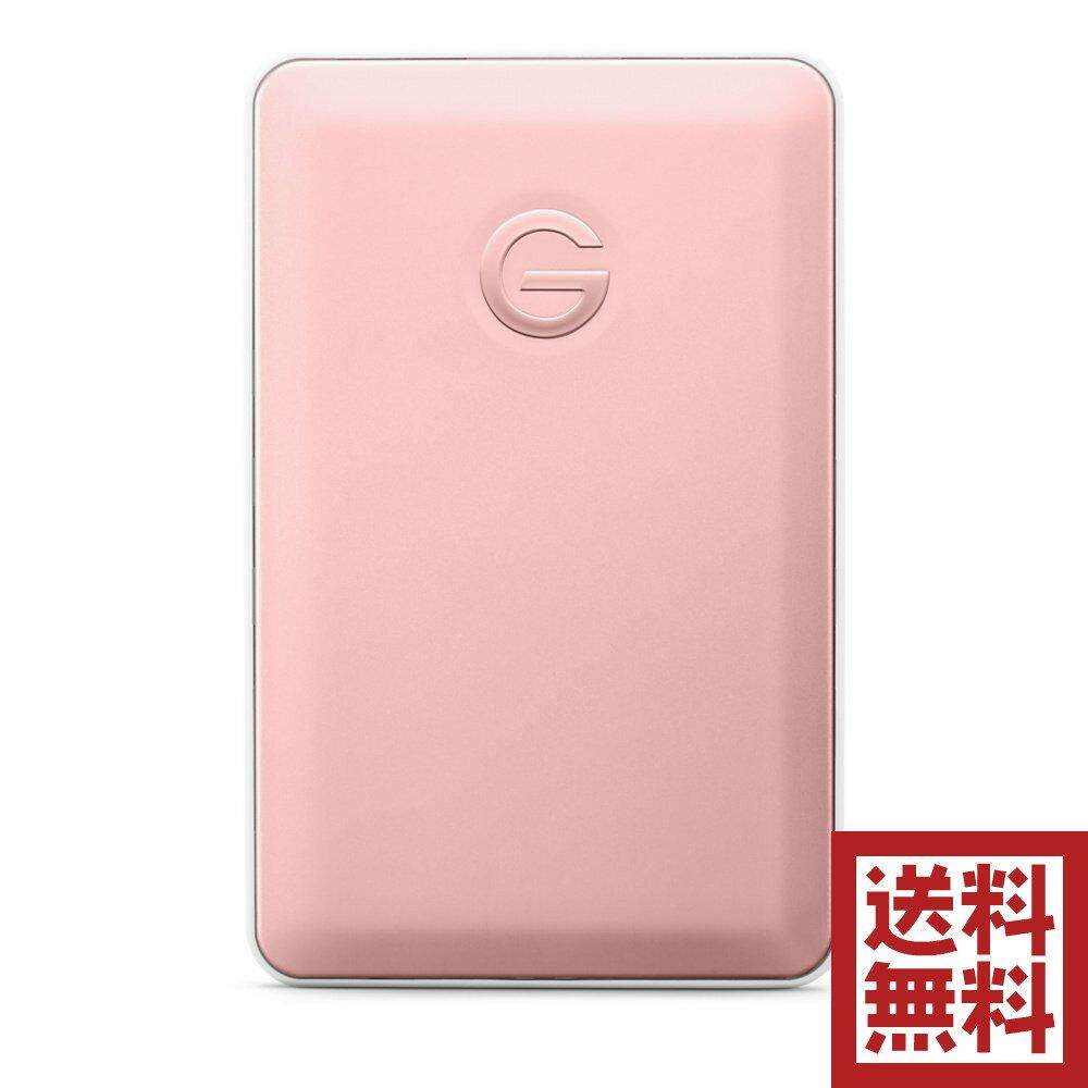 G-Technology 1TB G-DRIVE mobile USB-Cポータブルドライブ ローズゴールド 7200 RPM Time Machine対応