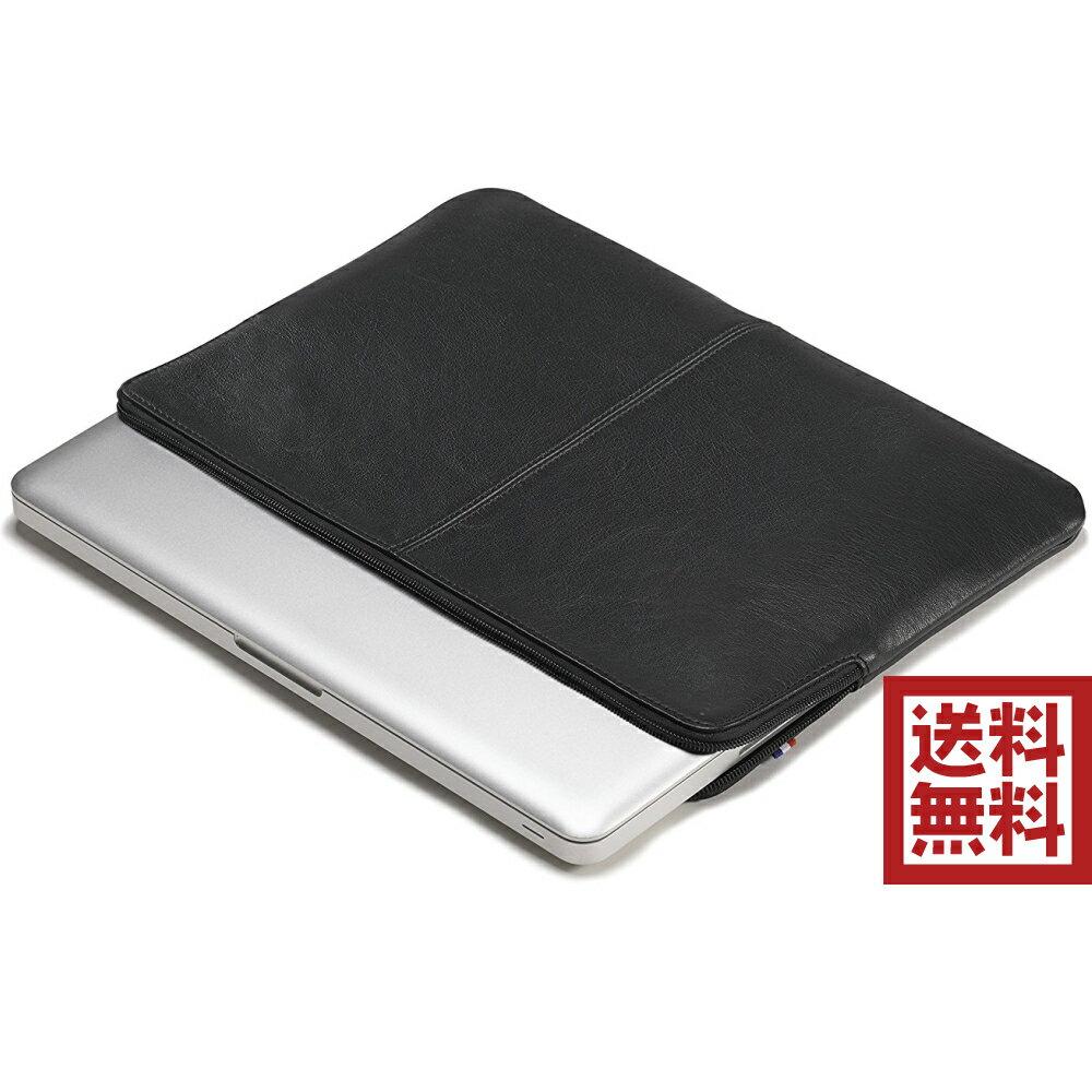 Decoded レザースリムスリーブ for MacBook 高級 レザー スリーブ ケース ブラック  13インチ