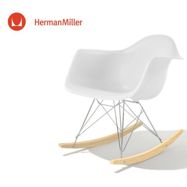 イームズ アームシェルチェア RAR ホワイト クロームベース ホワイトアッシュ[RAR. 47 A2 ZF]【Herman Miller ハーマンミラー 正規品】