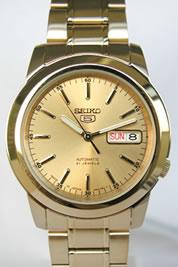 セイコー SEIKO 5(セイコー ファイブ) スタンダード メンズ 自動巻き ゴールド SNKE56J1 あす楽 送料無料