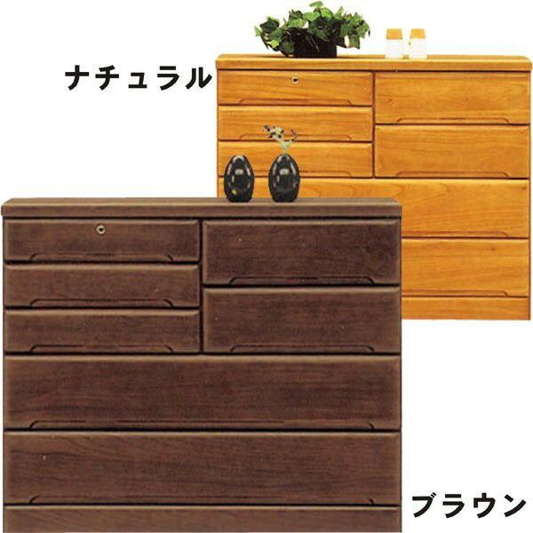チェスト タンス ローチェスト 幅120cm 桐材 木製 シンプル モダン 2色対応 日本製 完成品 送料無料 楽天 通販
