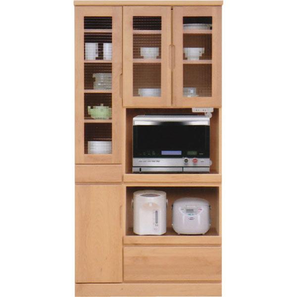 レンジ台 レンジボード 食器棚 幅90cm ハイタイプ キッチン収納 木製 完成品 送料無料 楽天 通販
