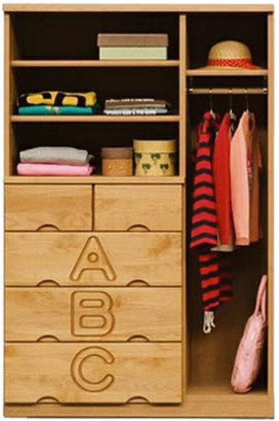 キッズ家具 ワードローブ 洋服タンス 子供部屋 子供家具 木製 無垢 日本製 完成品 送料無料 楽天 通販