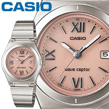 カシオ ウェーブセプター 10DJ レディース ピンク (ローマ数字) ステンレスバンド タフソーラー 電波時計 CASIO Wave Ceptor