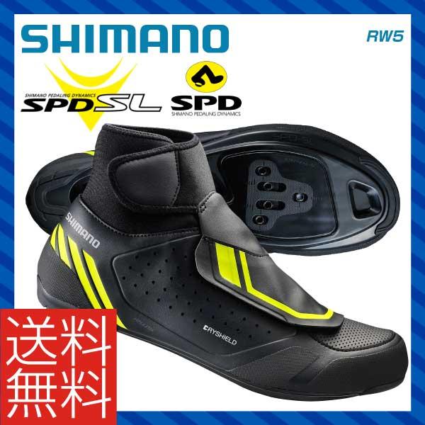 (送料無料)(SHIMANO)シマノ ROAD ロード SPD&SPD SL SHOES シューズ RW5 ブラック