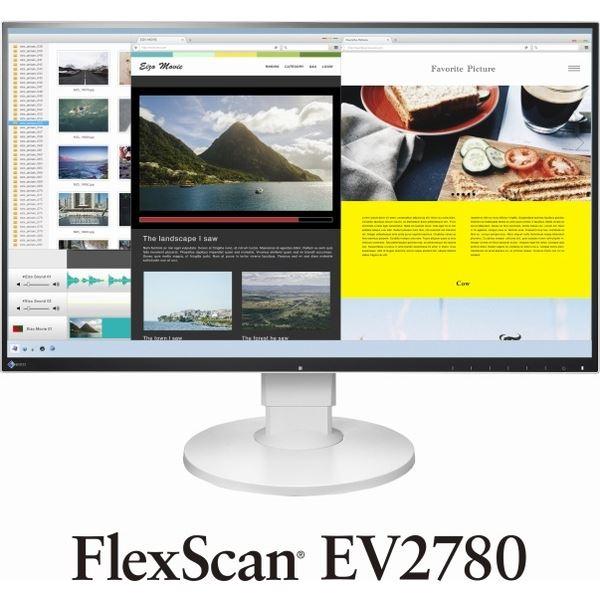 EIZO 68.5cm(27.0)型カラー液晶モニター FlexScan EV2780 ホワイト EV2780-WT 送料無料!