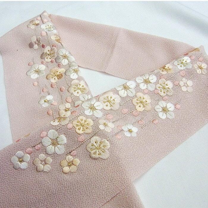 半衿 はんえり 梅 刺繍 古典 振袖 袴 刺繍半衿