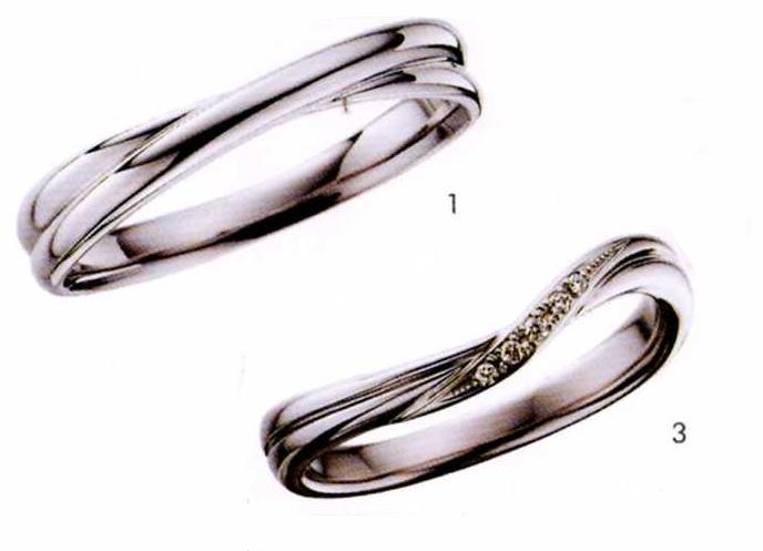 ★【卸直営店のお得な特別割引価格!!】★ily【アイリー】 (1)FHPA10-(3)FHPA12D(2本セット)Pt-900マリッジリング・結婚指輪・ペアリング