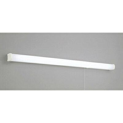 ◎ODELIC LEDキッチンライト 手元灯 FL40W相当 昼白色 消費電力16W 壁面取付専用 100V用 スイッチ付き コンセント付 OB255104