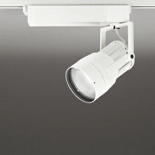 ◎ODELIC LEDスポットライト 高効率タイプ 配線ダクトレール用 CDM-T70W相当 オフホワイト スプレッド 43VA 昼白色 5000K 調光非対応 XS411195