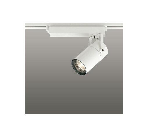 ◎ODELIC LEDスポットライト 配線ダクトレール用 CDM-T35W相当 オフホワイト スプレッド 電球色 3000K  調光非対応 XS513137
