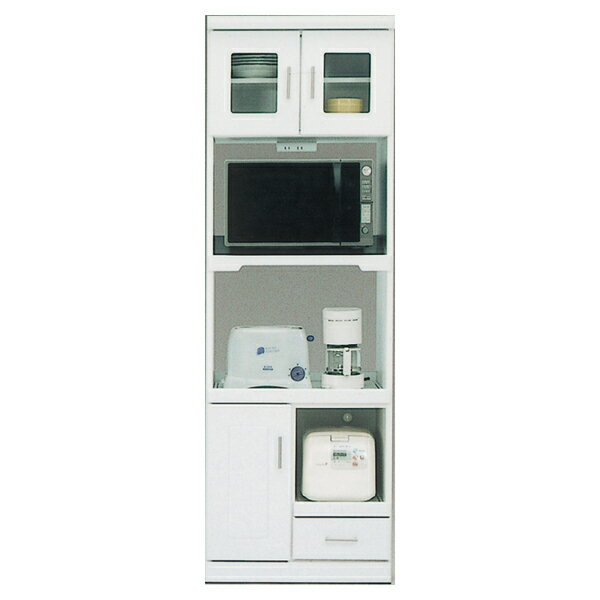 レンジボード レンジ台 キッチン収納 キッチンボード 収納家具 日本製 幅60cm 白 ホワイト おしゃれ 送料無料
