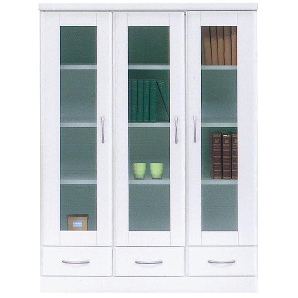 本棚 ミドルボード 書棚 本収納 収納家具 木製 幅90cm 完成品 国産 白 ホワイト 鏡面 おしゃれ 送料無料