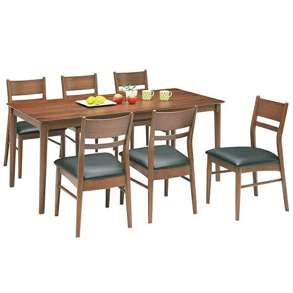 ダイニングセット ダイニングテーブルセット シンプル モダン 7点 食卓テーブルセット 6人用 木製 送料無料