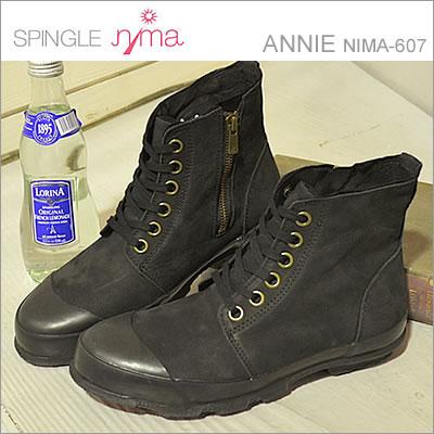 SPINGLE MOVE(スピングル ムーヴ/スピングル ムーブ)SPINGLE nima(スピングル ニーマ)ANNIE(NIMA-607)BLACK(ブラック) [靴・レディーススニーカー・シューズ] 【smtb-TD】【saitama】 【ちちんぷいぷい】