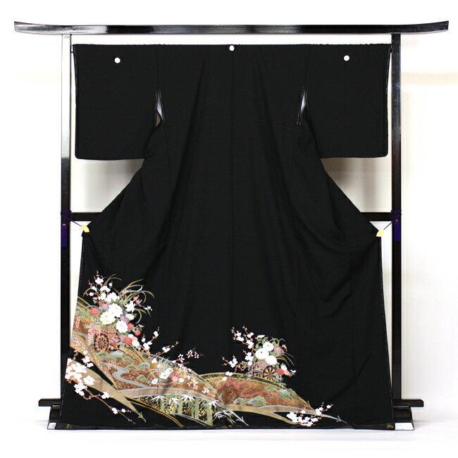 留袖 レンタル 往復送料無料 着物 黒留 黒留袖 19点フルコーディネートセット 結婚式 rental とめそで kimono きもの【fy16REN07】