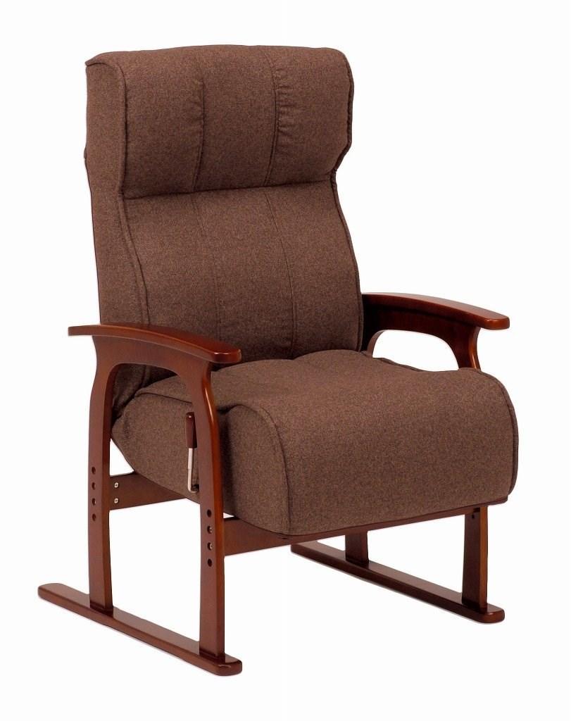 座椅子 ブラウン LZ-4303BR 代引き不可 送料無料(一部地域を除く)