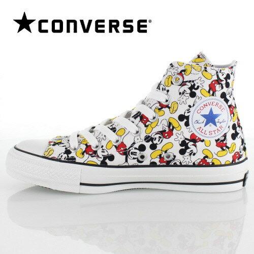 CONVERSE コンバース ALL STAR 100 MICKEY MOUSE PT HI オールスター ミッキーマウス 1CK589 60630 マルチ ホワイト 白 メンズ レディース スニーカー 靴