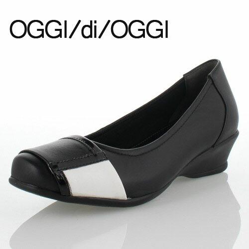 最高の OGGI di OGGI 靴 957 コンフォート パンプス ブラック 黒 本革 羊革 シューズ レディース