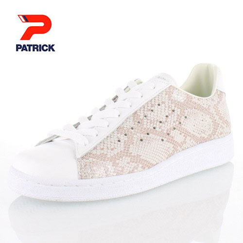 PATRICK パトリック QUEBEC-SK WHT ケベック スネーク 528700 メンズ レディース スニーカー レザー 日本製 ホワイト