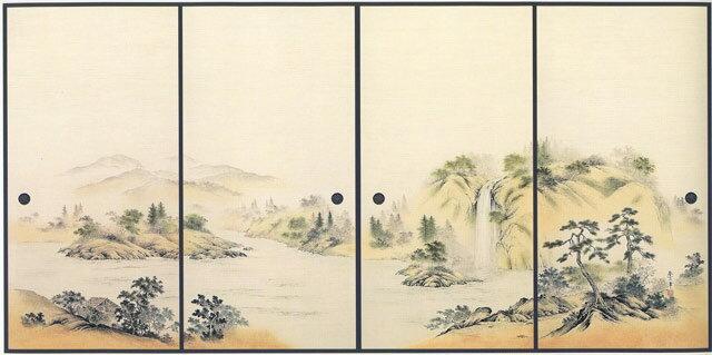 4枚柄織物襖紙 P-1011