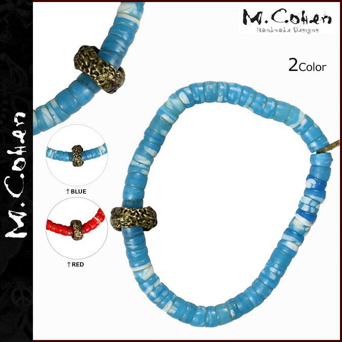 M.Cohen エムコーエン ブレスレット ブルー レッド B-101059-BRS BRACELET ブレス メンズ レディース