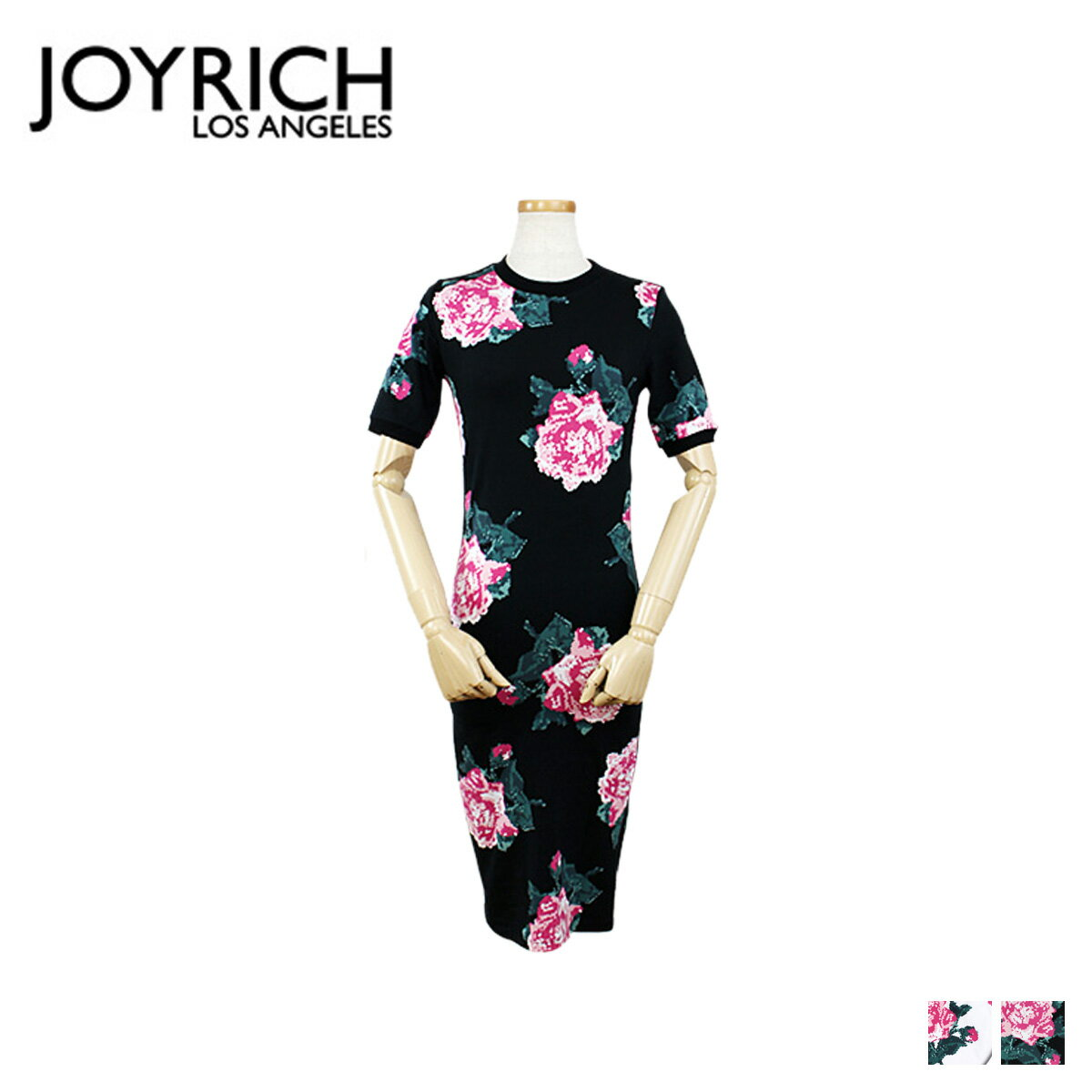 JOYRICH ジョイリッチ ワンピース タイトワンピース 半袖 ドレス 2カラー 8BIT FLORAL BODYCON DRESS レディース