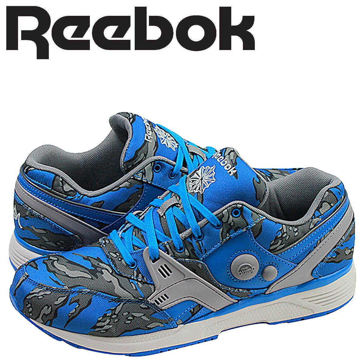 Reebok リーボック ポンプ スニーカー  PUMP RUNNING DUAL STASH COLLECTION  V61555  メンズ 靴 ブルー
