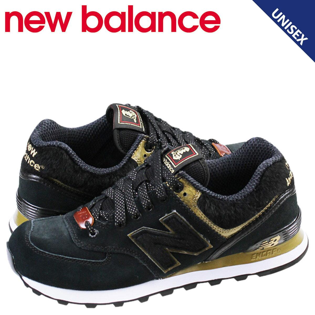 new balance ニューバランス 574 レディース スニーカー  ML574HBL Dワイズ  午年 メンズ 靴 ブラック