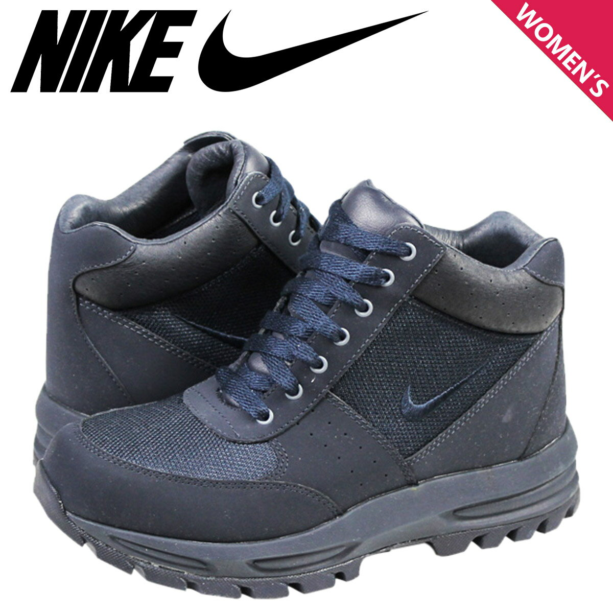 NIKE ナイキ スニーカー ブーツ レディース  GO AWAY ACG TRAIL BOOT GS  375509-401  靴 ネイビー 【9000足】