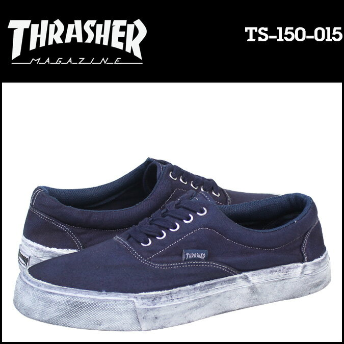 THRASHER スラッシャー スニーカー  DECKER  TS-150-015  メンズ レディース 靴 ネイビー