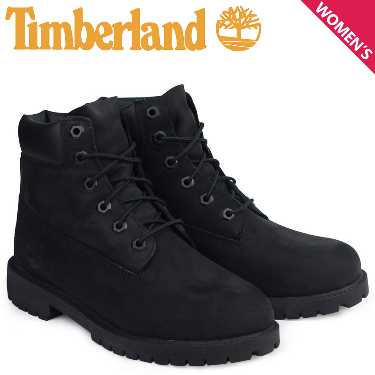 Timberland ティンバーランド レディース 6INCH WATERPROOF BOOTS ブーツ 6インチ プレミアム ウォータープルーフ ブーツ 12907 ブラック [11/18 追加入荷]