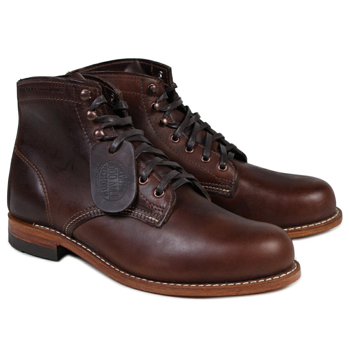 ウルヴァリン 1000マイル ブーツ WOLVERINE ブーツ 1000 MILE BOOT Dワイズ W05301 ブラウン ワークブーツ [9/27 追加入荷]