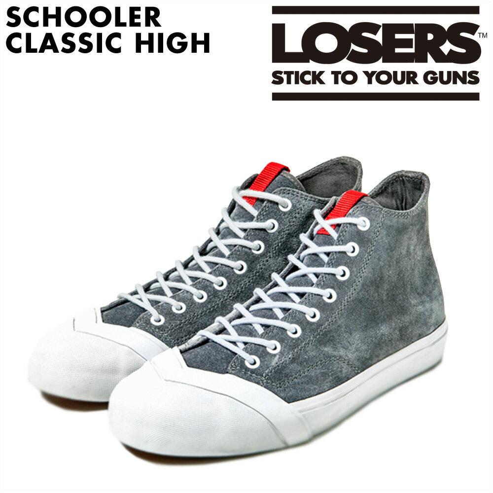 関税送料込 LOSERS ルーザーズ スクーラー クラシック ハイ スニーカー  SCHOOLER CLASSIC HIGH  14AWSCH04 メンズ 靴 グレー