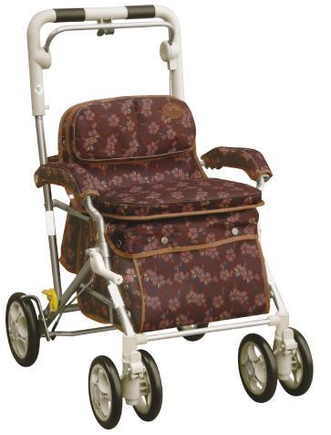ユーメイトMX 【なでしこブラウン】 シルバーカー・歩行器  レインカバー付 品番061744