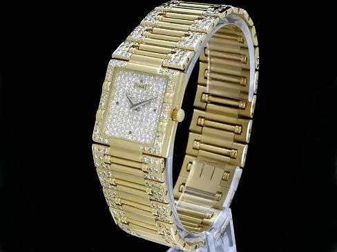 【USED】 ピアジェ - PIAGET - ダンサースクエア 18KYGケース/18KYGブレス ダイヤモンド ルビー クオーツ メンズ ボーイズ 【Luxury Brand Selection】腕時計【中古】