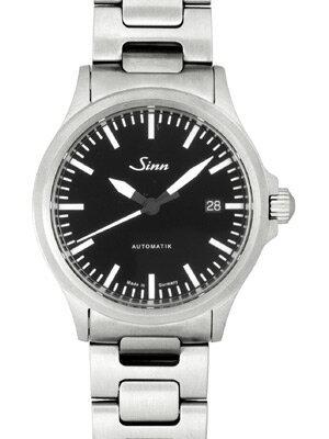 【新品】Sinn(ジン) model556M SSブレス メンズ 自動巻き ブラックダイアル バーインデックス